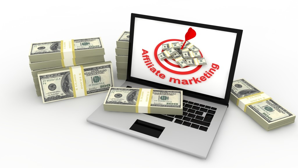 Image of  Affiliate marketing concept in 3d